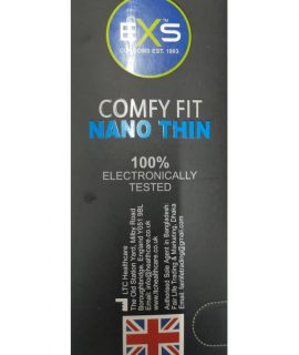 EXS Comfy Fit Nano Thin Black Comdom. Made in UK. Quantity: 10*3= 30 Pcs