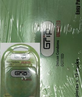 GRIP UNLIMITED DELUXE DOTTED CONDOM Quantity: 12*2= 24 Pcs