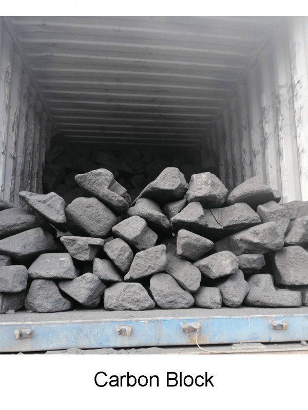 PRODUCT: CARBON BLOCK Product Description: CARBON BLOCK is a residual part of Prebaked Carbon Block which is used in the electrolytic tank. Carbon Block is high in calorific valur and low in moisture. The calorie of 1ton Carbon Block is equivalent to that of 1.5tons metallurgical coke. Fixed Carbon (F.C.)        = 98.00% min Ash                                     = 1.00% max Volatile Matter (V.M.)   = 1.00% max Sulfur                                = 1.00% max Moisture                           = 1.00% max Application: Uses in various foundry factory.  Refused in the process of producing anode material. Used as a kind of aggregate in the process of anode paste. Used as the copper smelting fuel. Used as a Iron smelting fuel.